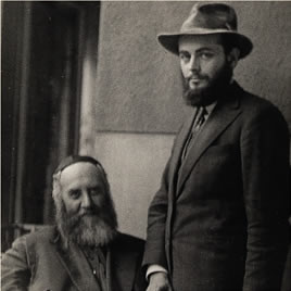 Portrait of the two Rebbes