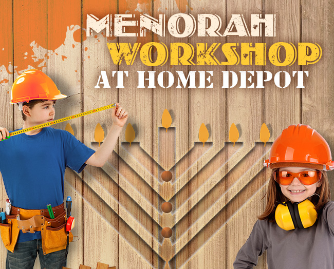 Menorah Workshop At Home Depot Chabad Of Kennesaw